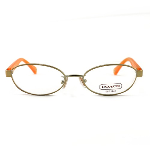 COACH 5032 9072 Eyeglasses Gold/Orange 50 16 135 without case finish line