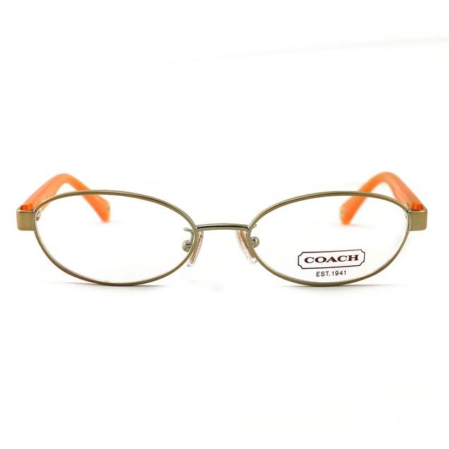 COACH 5032 9072 Eyeglasses Gold/Orange 50 16 135 without case finish line