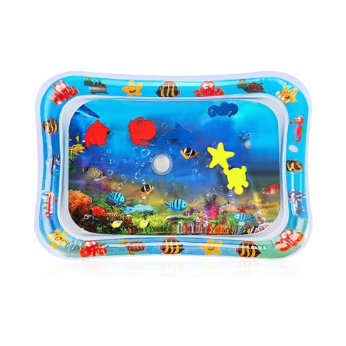 Baby Water Mat Baby Tummy Time Infant Slapped Toys Inflatable Play Mat
