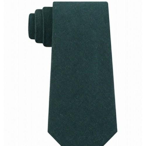 Tommy Hilfiger Men's Manhattan Solid Tie Green Size Size Reg
