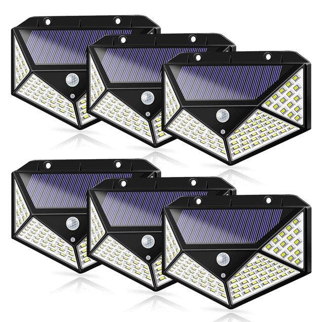 6 Pack: Solar Lights Outdoor Waterproof Lights Wireless Motion Sensor Light