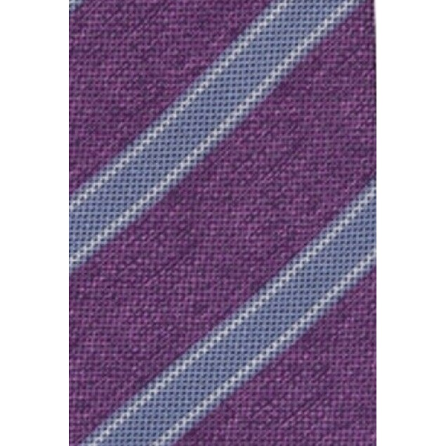 Tasso Elba Men's Stripe Silk Tie Purple One Size