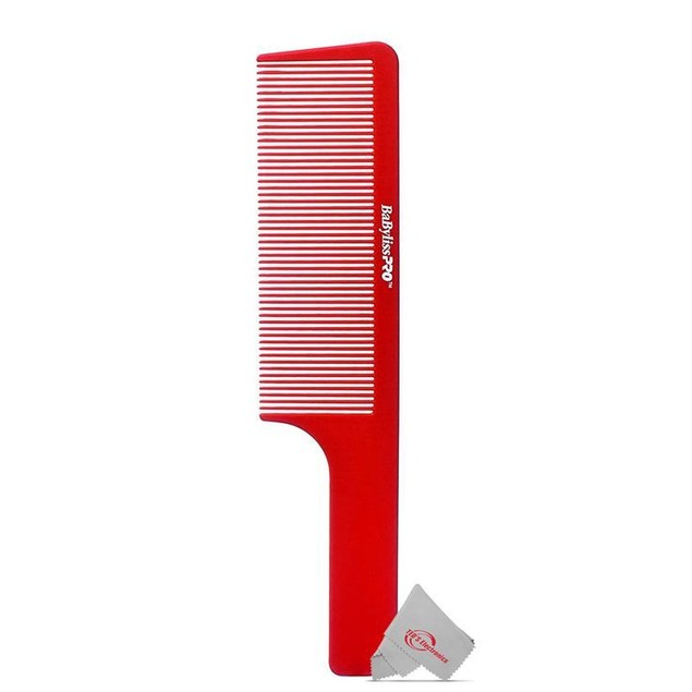 BaBylissPRO Barberology 9 Inch Clipper Comb - White, Black and Red