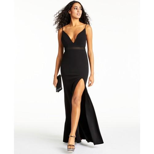 City Studios Juniors' Plunge Sleeveless Maxi Dress Black Size 7
