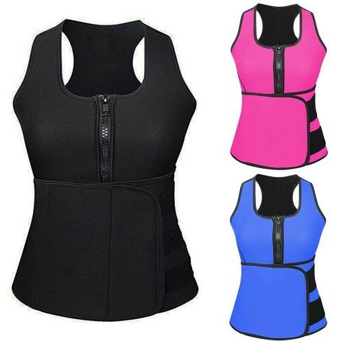 Women Waist Trimmer Suit Push Up Vest Sweat Waist Trainer Body Shaper