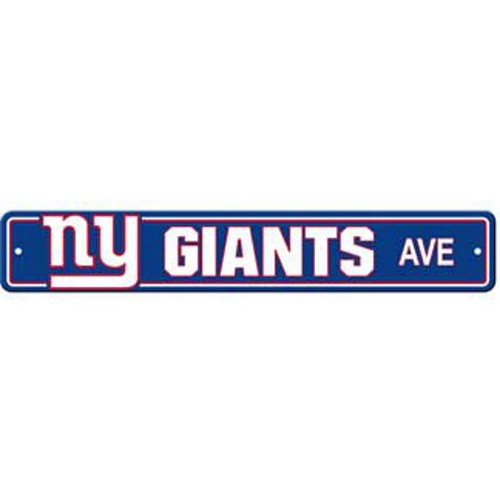 "New York Giants Ave Street Sign 4""x24"""