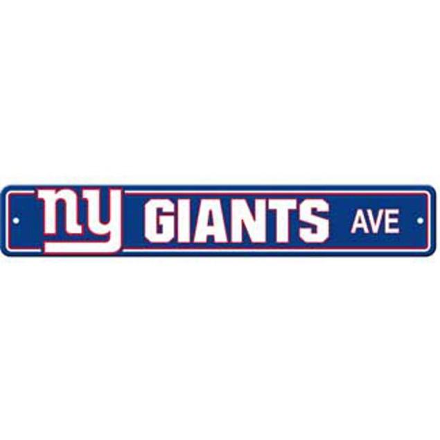 "New York Giants Ave Street Sign 4""x24"""