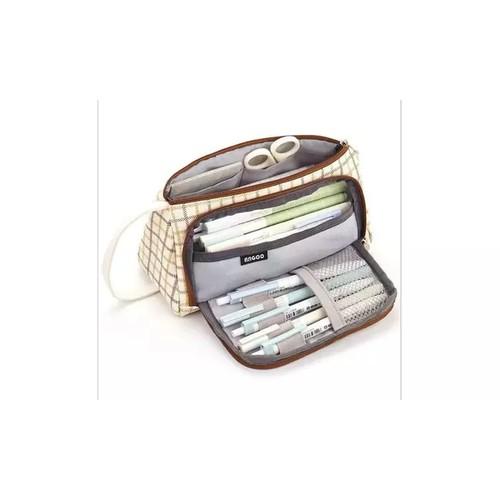 Multi-Compartment Large Capacity Pencil Case Pouch