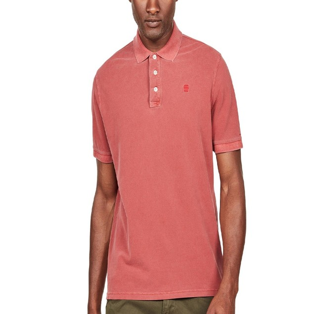 G-Star Raw Men's Halite Polo Shirt  Red Size XX-Large