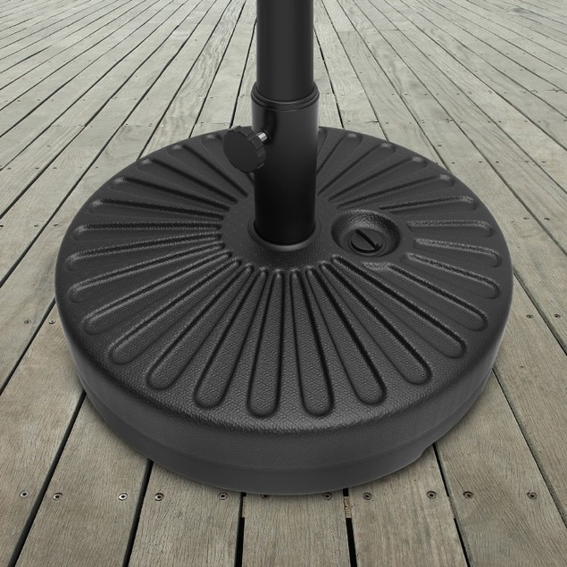 Patio Umbrella Base- 50 Pound Weighted Round Umbrella Holder Fill with Sand