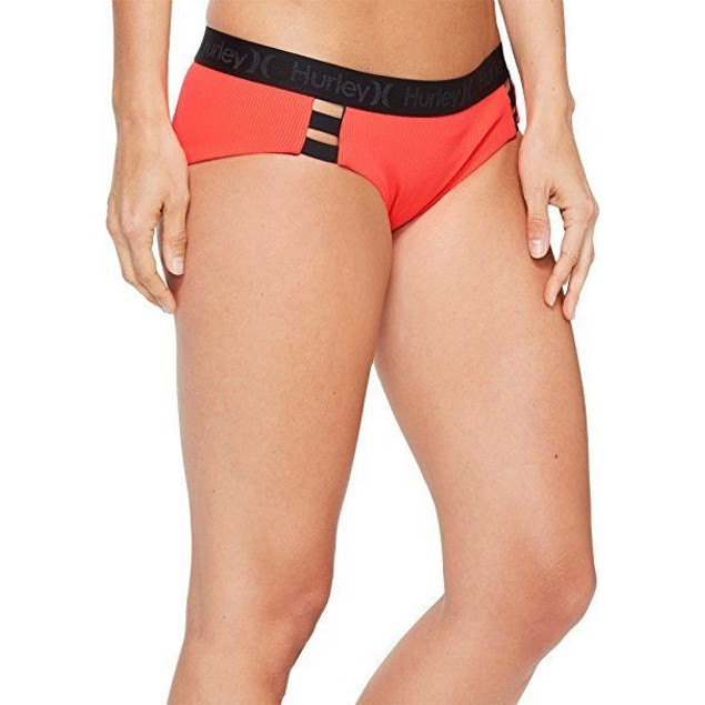 Hurley Women's Quick Dry Boy Bottoms Bright Crimson Swimsuit Bottoms S