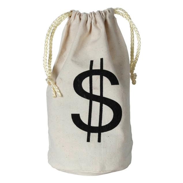 Wild West Money Bag Western Cowboy $ Bank Stolen Large Costume Prop Burlap