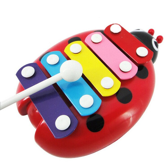5-Note Xylophone Musical Toys Wisdom Development Beetle