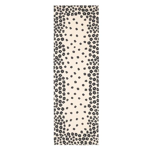 Wildflower Textured Printed Cotton Area Rug