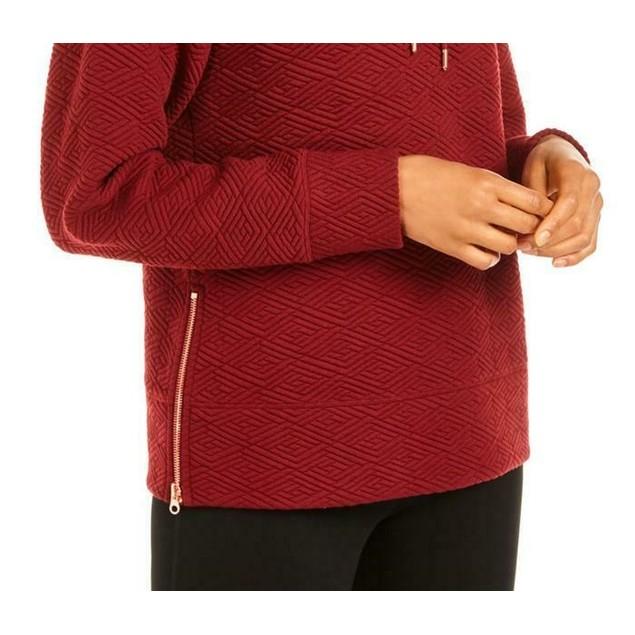 Ideology Women's Zip-Hem Hoodie Medium Red Size X-Small