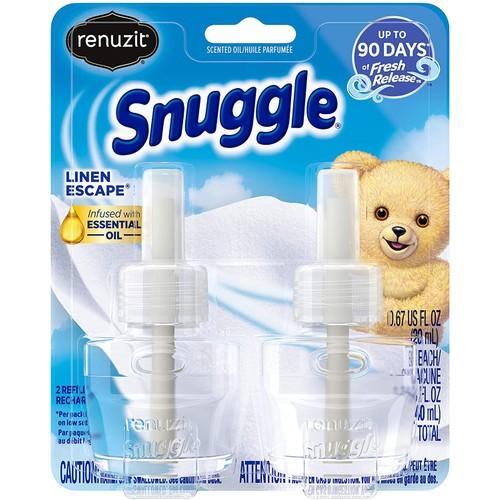 Renuzit Snuggle Oil Refill Linen Escape Plugin Air Freshener, 0.67 Fl Oz, 2