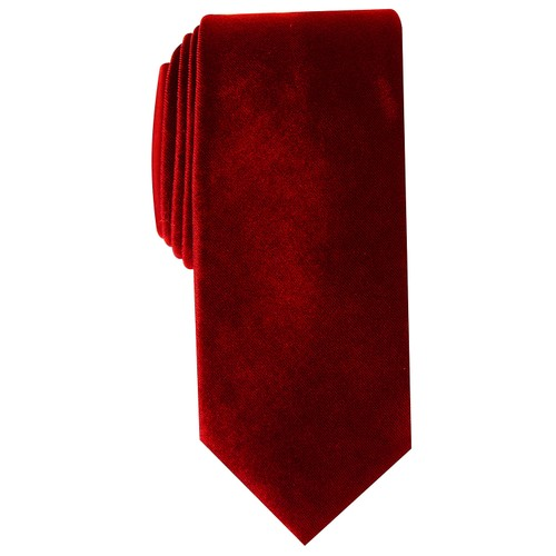 Alfani Men's Slim Velvet Tie Red Size Regular