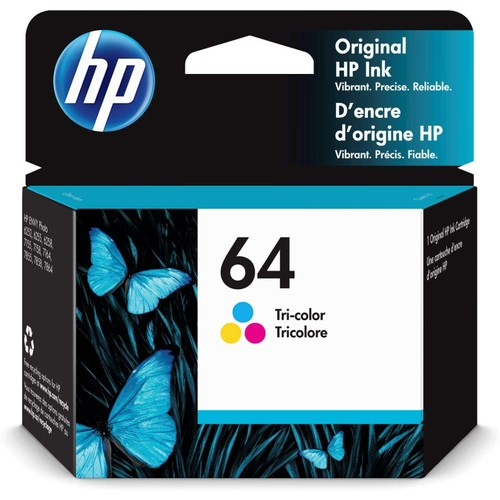 HP 64 | Ink Cartridge | Works with HP ENVY Photo 6200 Series, 7100 Series, 7800 Series, HP Tango and HP Tango X | Tri-Color | N9J89AN