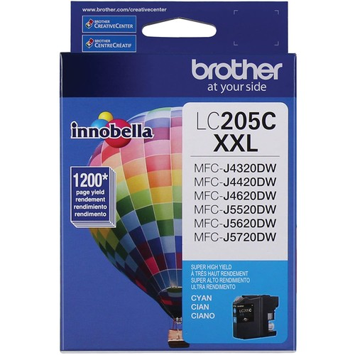 Brothers Brother Printer LC205C Super High Yield Ink Cartridge, Cyan