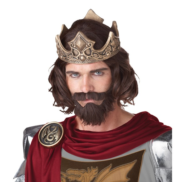 Medieval King Wig With Beard And Mustache