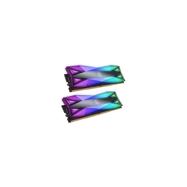 XPG SPECTRIX D60G RGB Desktop Memory: 16GB (2x8GB) DDR4 3200MHz CL16 - Grey