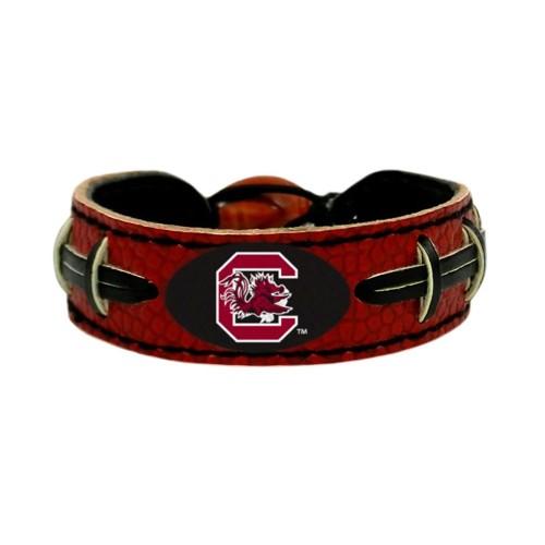 South Carolina Gamecocks Team Color NCAA Gamewear Leather Football Bracelet
