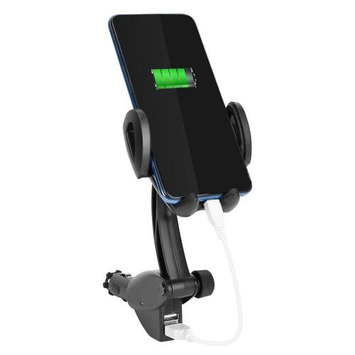 360° Rotation Car Phone Mount 3.1A Dual USB Port