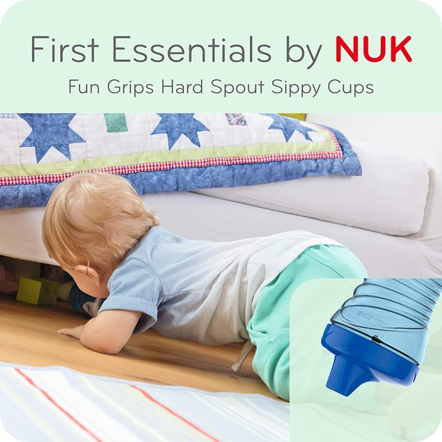 Gerber Graduates Nuk First Essentials Fun Grips Hard Spout Sippy Cup 10 Oz,
