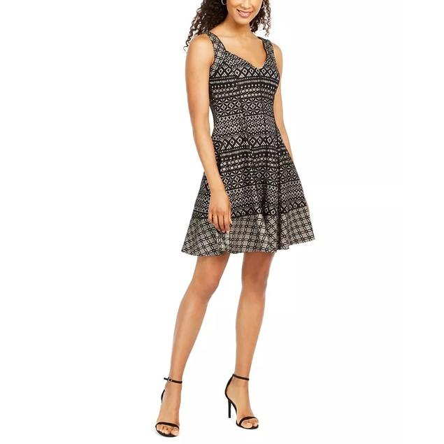 Donna Ricco Women's Sleeveless Sweetheart Neck Jumpsuit  Black Size 16