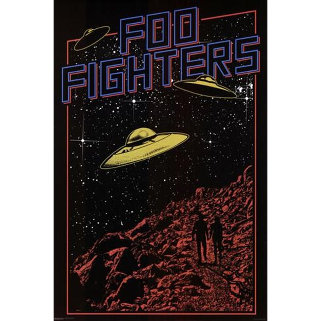 Foo Fighters UFO Poster 36 x 24 Dave Grohl Nirvana Rock Music