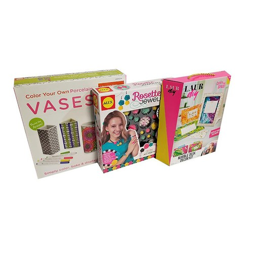 Craft Game bundle Colour your own porcelain vases, Rosette jewelry,  Laur