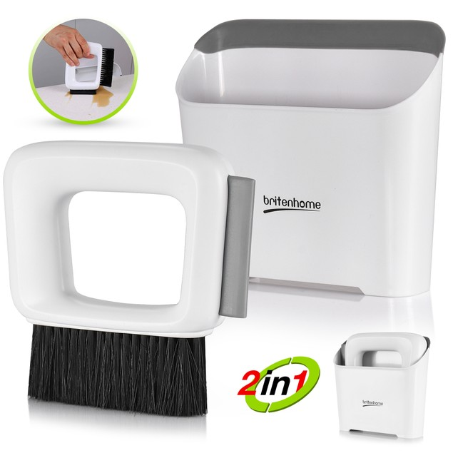 Mini Dustpan and Squeegee Small Hand Broom Counter Brush Cleaning Set