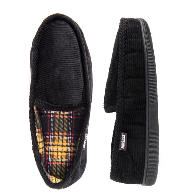 MUK LUKS ® Men's Corduroy Moccasin with Flannel Lining
