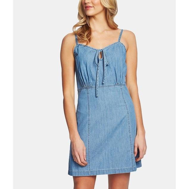 Cece Women's Cotton Sleeveless Dress Blue Size 14