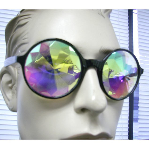 Black Kaleidoscope Sunglasses Glasses Adult Costume  Accessory Lady Gaga