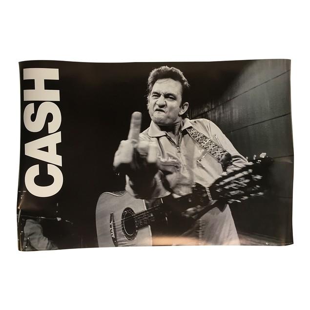 Johnny Cash Middle Finger Poster