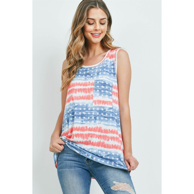 American Flag Sleeveless Top