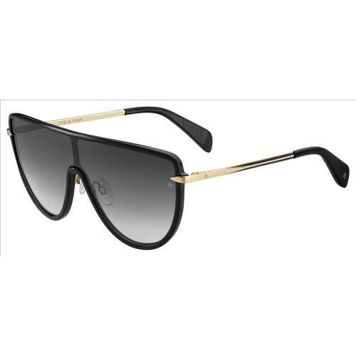 Rag & Bone Woman Sunglasses RNB1008S Black Gold 99 10 140 Round/Oval Gradient