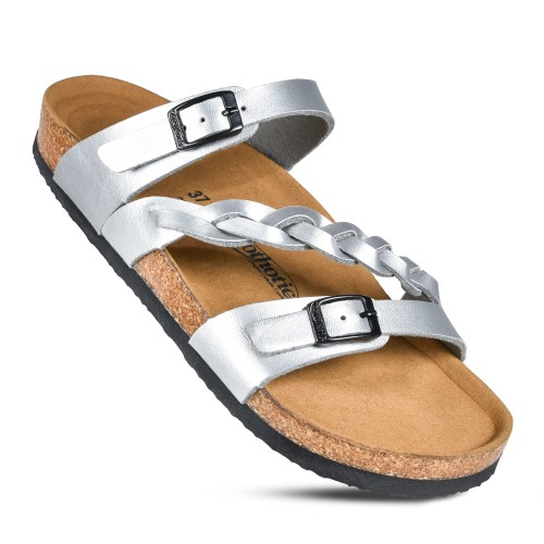 AEROTHOTIC Viking Women's Arch Support Casual Strappy Slide Sandal