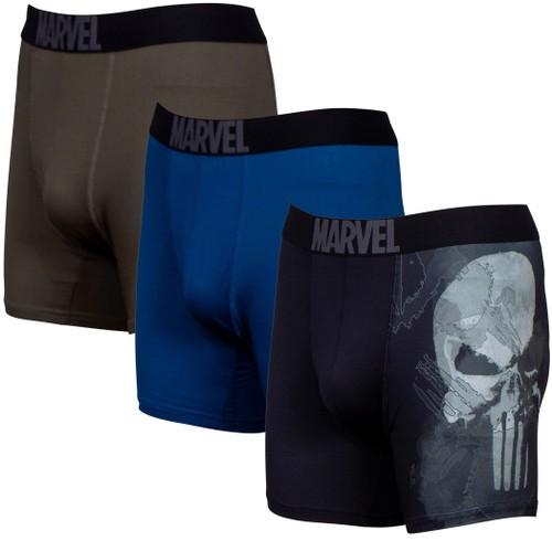 The Punisher Performance Mesh Underwear Boxer Briefs 3-Pair Pack