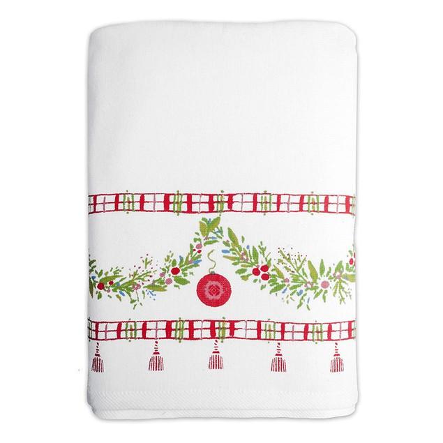 Dena Noelle Cotton 27 Inches x 50 Inches Printed Bath Towel, Multicolor