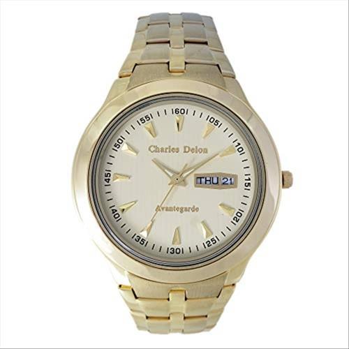 Charles Delon Men's Watches 5247 GGCD Gold/Gold Stainless Steel Quartz Round