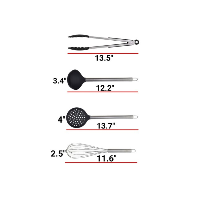 12 Piece Silicone and Stainless Steel Kitchen Utensil Set