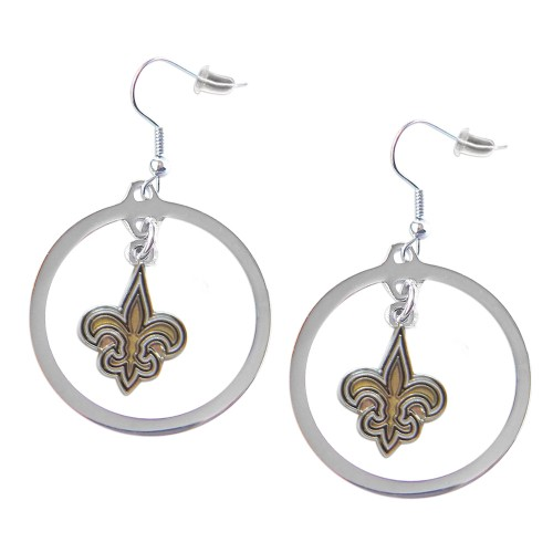 New Orleans Saints Hoop Earring