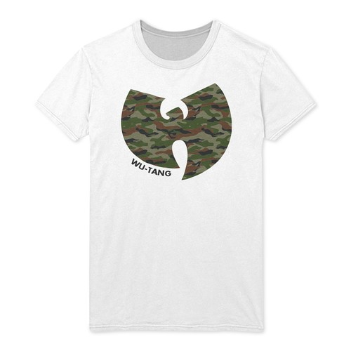 Fea Men's Camo-Print Wu-Tang Clan Graphic T-Shirt White Size Small