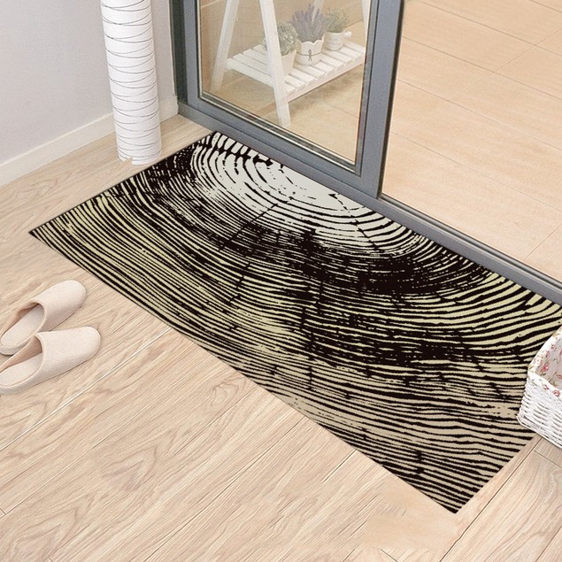 Tree Ring Carpet Sticker Removable Waterproof Anti-Slip