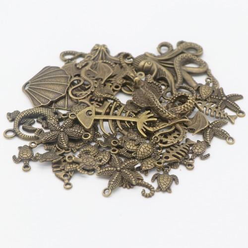 80 PCS Random Lot Antique Pendants For Jewelry Making DIY Bracelet Necklace