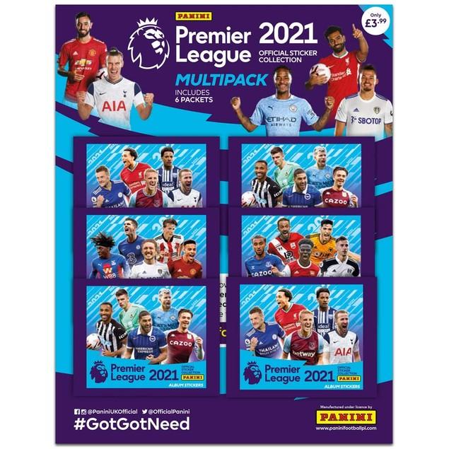 Panini's 2021 Premier League Sticker Multipack (6 Packs)