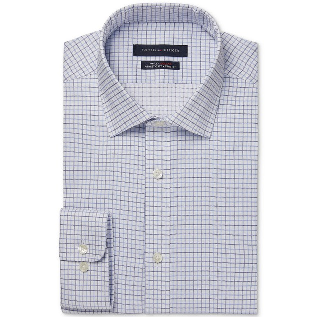 Tommy Hilfiger Athletic-Fit Stretch Performance Dress Shirt 16.5x32-33