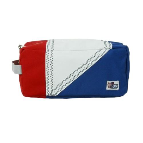 SailorBags Tri-Sail Toiletry Kit, red, white, blue